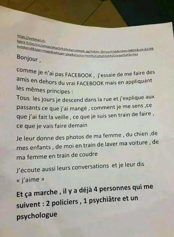 Face book lol Cela commence à devenir grave
